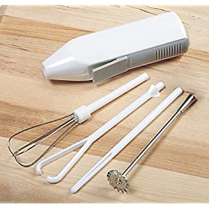 Mini Mixer Deluxe Cordless 5 Pc/Set Whip Stir Blend Beat Mixers Handheld Drink Frother Cappuccino Latte