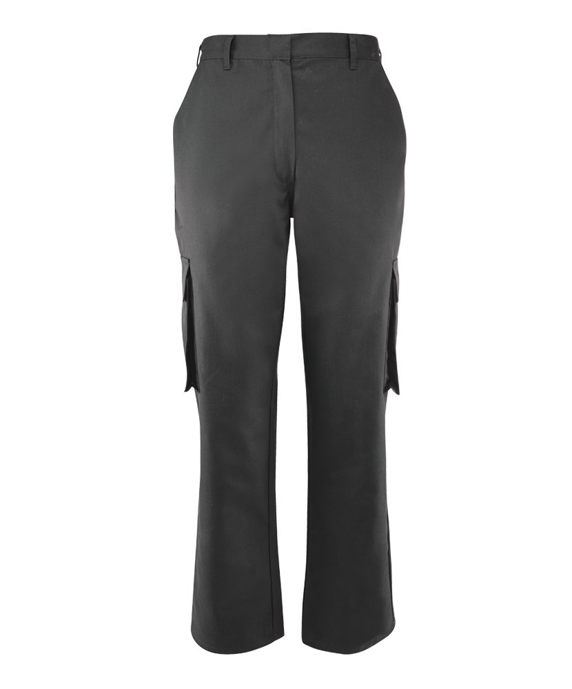 Alexandra STC-NF515GY-12R Women's Cargo Trouser, Regular, Plain, 67% Polyester/33% Cotton, Size: 12, Grey
