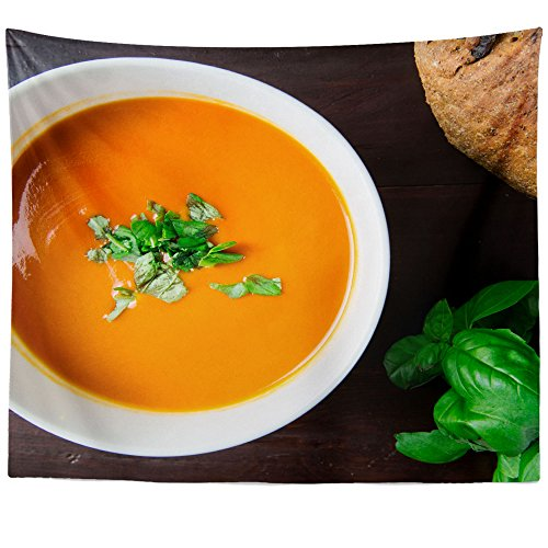 Westlake Art - Soup Food - Wall Hanging Tapestry - Picture Photography Artwork Home Decor Living Room - 68x80 Inch (Homemade Tomato Bisque)