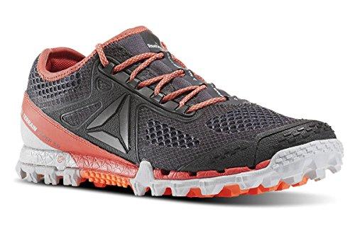 Reebok Bd2169, Zapatillas de Trail Running para Mujer Gris (Ash Grey / Skull Grey / Fire Coral / Pwtr)