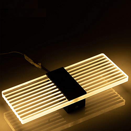 HuaXinV LED Wall Light 6W Square Warm White Bedroom Bedside Night Light Modern Style Decorative ()