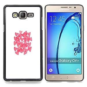 Stuss Case / Funda Carcasa protectora - Mariposa rosada blanca Limpio - Samsung Galaxy On7 O7