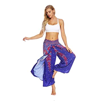 YOGOAOO Verano para Mujer Pantalones de Yoga Pantalón Ancho ...