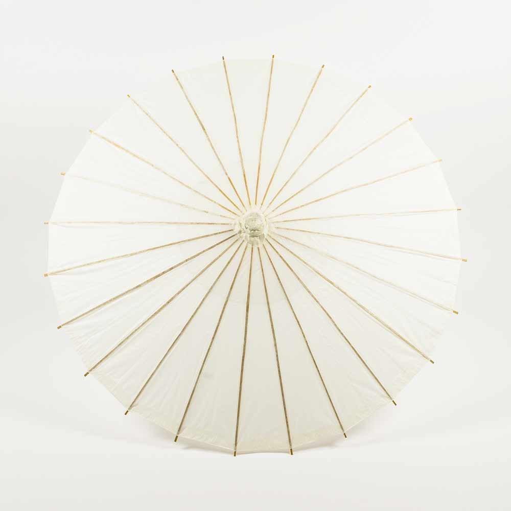 Quasimoon PaperLanternStore.com Bulk CASE 32 Inch Beige/Ivory Paper Parasol Umbrellas (6 Pack)