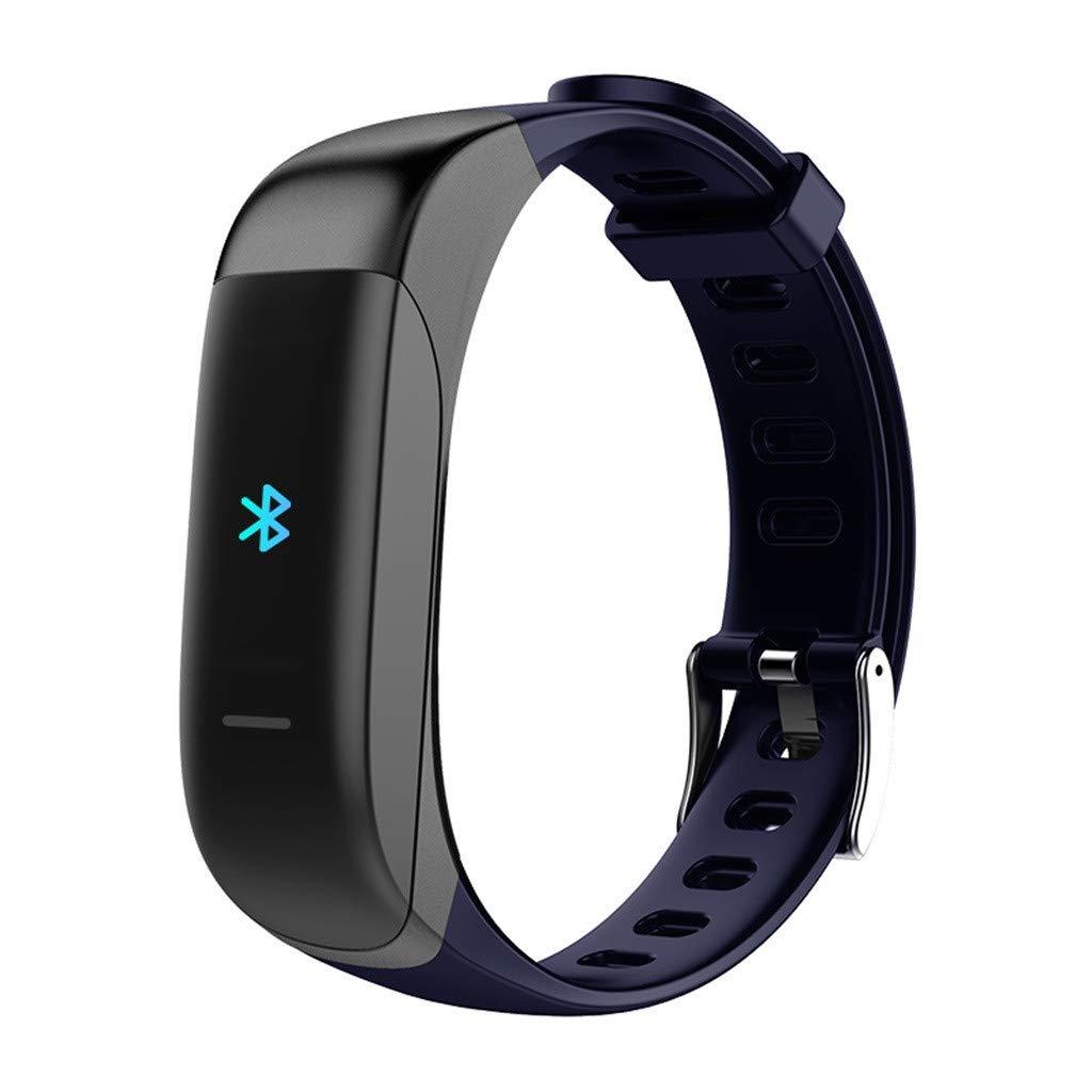 NDGDA Smart Watch Bracelet Heart Rate Blood Pressure Monitor Fitness Tracker Bluetooth (Blue)