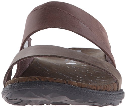 Around Donna Sandali Town Green Merrell Slide Brown q067B7Rwx