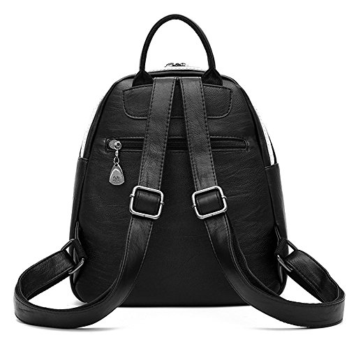 685 Red Women Leather Backpacks Student Zipper Bag For Women Nevenka PU Bags Backpack Casual 7wgOqOFx