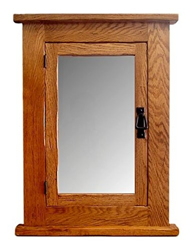 Solid Oak Mission Recessed Medicine Cabinet/Solid Wood & Handmade - Mission Medicine Cabinet