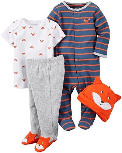 Carter's Baby Boys 4 Pc Sets 126g355, Orange, 6 Months