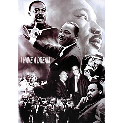 Dr. Martin Luther King Jr. I Have A Dream 3D Poster Wall Art Decor Print | 11.8 x 15.7 | Lenticular Posters & Pictures | Memorabilia Gifts for Guys & Girls Bedroom | MLK Civil Rights Leader Art Photo