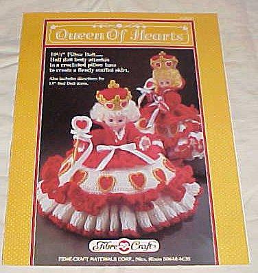Queen of Hearts FCM161 Doll Crochet Cloths 1989 (10 1/2