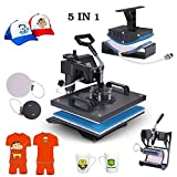 Superland Power Heat Press 5 in 1 Industrial-Quality 12-by-15-Inch Multifunctional Sublimation T-Shirt Hat Mug Heat Press Machine (5 in 1: 12'' x 15'')