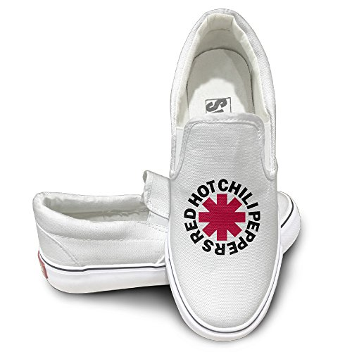 Cobain Red Hot Chili Peppers Unisex Activewear Flat Canvas Shoes Sneaker 41 White (2)