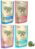 Feline Greenies Dental Treats for Cats - 5 Pack Variety Bundle - Includes 1 Tempting Tuna, 1 Savory Salmon, 1 Flavor Fusion, 1 Ocean Fish (2.5 ounces each), and 1 Micro Mouse