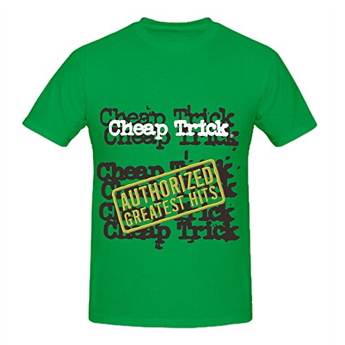 Cheap Trick Authorized Greatest Hits Greatest Hits Mens Crew Neck Art Tee Green