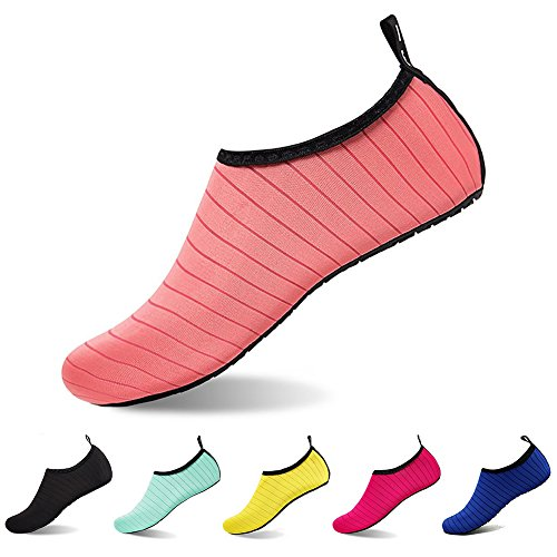 U-WARDROBE Barefoot Water Shoes for Women And Men Quick-Dry Aqua Socks for Yoga Beach Swim Surf Exercise US Women:7.5-8.5/Men:6-7 from U-WARDROBE
