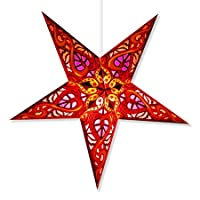 Lámpara Celtic Red Paper Star, Star Lantern Star Light… (Celtic Red Star Lantern)