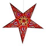 Celtic Red Paper Star Lamp, Star Lantern Star Light