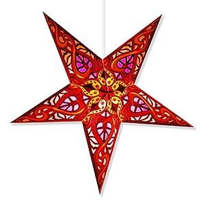 Celtic Red Paper Star Lamp Star Lantern Star Light Home K