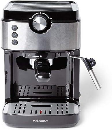 Mellerware Bari Legend cafetera espresso programable 20 bares y filtro extracream. Acero inoxidable: Amazon.es: Hogar