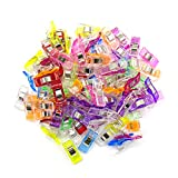 Teekia Pack of 90 Wonder Clips for Sewing Quilting Crafting Clover Clips, 9 Colors