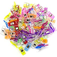 Teekia Pack of 100 Wonder Clips for Sewing Quilting Crafting Clover Clips