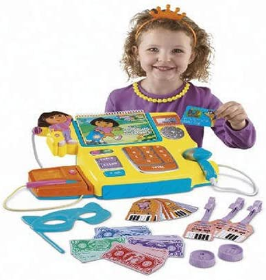 Dora the Explorer Dora 's Talking Cash Registerギフトセットwith人形Included
