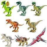 Yzakka Jurassic World Park Mini Dinosaur Models Dinosaur Minifigures Movable Toys 8pcs