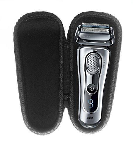 FitSand (TM) Carry Zipper Travel Storage EVA Hard Case Box for Braun Series 9-9095Cc Wet & Dry Electric Shaver