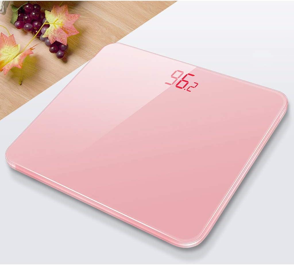 Giow Bilancia Elettronica,per Uso Domestico Bilancia Ricaricabile per Uso Domestico (Colore: Bianco) Rose Gold
