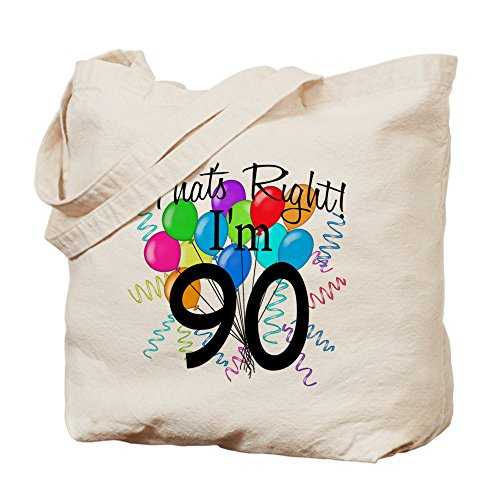 Cafepress –�?0th Birthday – Borsa di tela naturale, tessuto in iuta