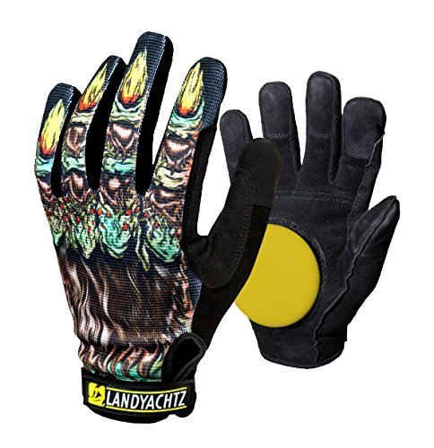 Landyachtz Freeride Werewolf Slide Glove with Slide Pucks Size XL by Landyachtz