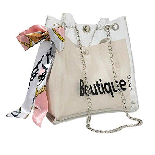 Bag Handbag Handle White Clear Shopping Top Shoulder Transparent Crossbody Handbags Kinrui Purse Waterproof Fashion Women's 6T0PRzzqw