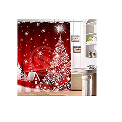 Custom Home Decor christmas decoration background Fabric Modern Shower Curtain European Style bathroom Waterproof by Hotlove Charm Home