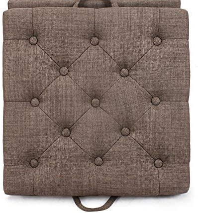 Homebeez Tufted Storage Ottoman Square Footrest Stool Coffee Table