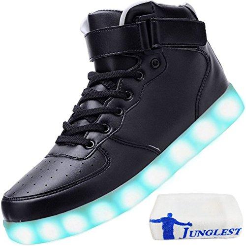 (Presente:pequeña toalla)JUNGLEST® LED Light 7 color Shoes zapatillas para hombre USB carga de techo luces intermitentes de calzado de deportes zapati c44