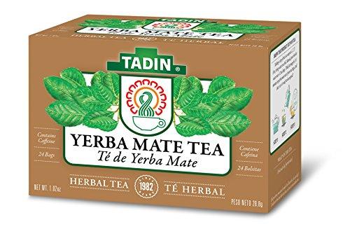 Tadin Herb & Tea Co. Yerba Mate Tea, Contains Caffeine, 24 Tea Bags, Pack of 6