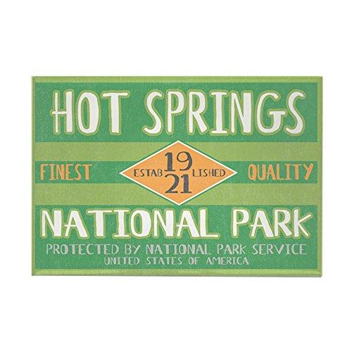 CafePress Hot Springs National Park (Retro) Rectangle Magnet, 2