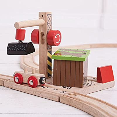 Bigjigs Rail Wooden Railway Coal Mine for Train Set: Toys & Games