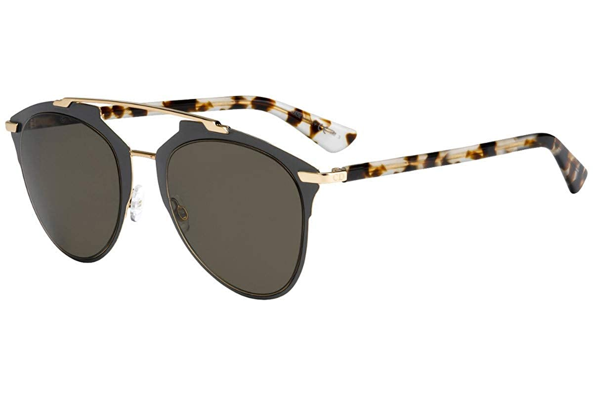 b079253519 Amazon.com  New Christian Dior REFLECTED PRE 70 grey gold light  havana brown Sunglasses  Clothing