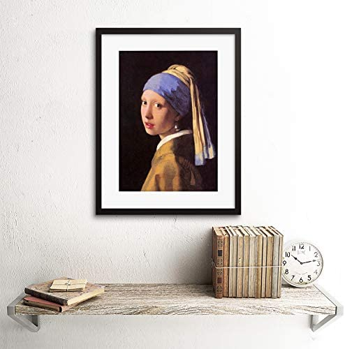 VERMEER GIRL WITH PEARL EARRING OLD MASTER FRAMED ART PRINT B12X640