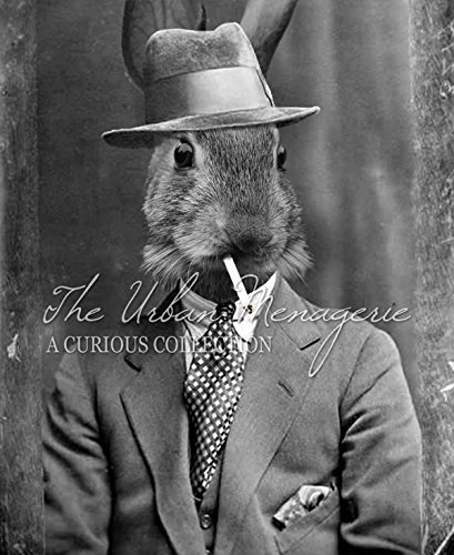 [Anthropomorphic Portrait, Bunny with Cigarette Art Print, Multiple Sizes Available, Unframed] (Inanimate Object Costume)