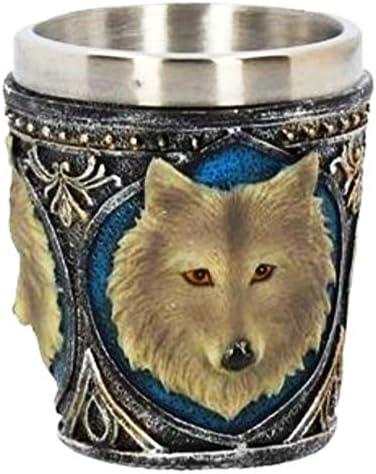 Juego de 4 copas de chupito de lobo gótico para decoración de mesa.: Amazon.es: Hogar