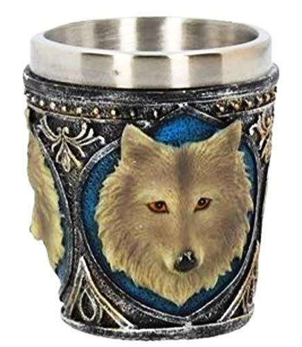 Juego de 4 copas de chupito de lobo gótico para decoración de mesa ...