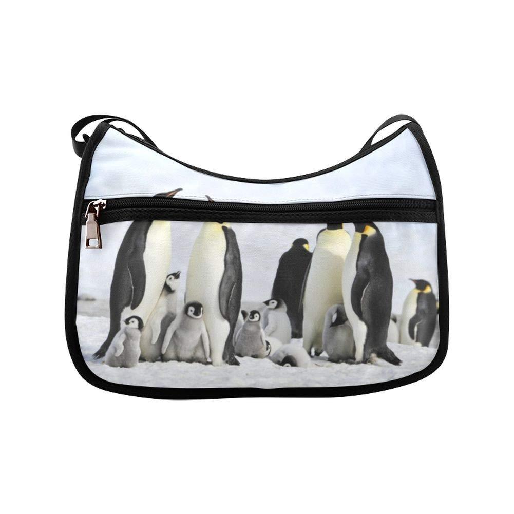Cute Hairy Antarctic Penguin Bird Messenger Bag Crossbody Bag Large Durable Shoulder School Or Business Bag Oxford Fabric For Mens Womens
