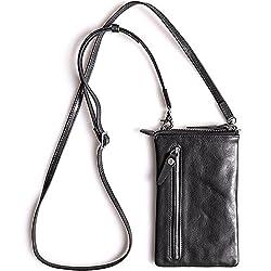 910007b5f398c Sunsa Damen Herren Tasche Rucksack Ranzen Schultertasche aus Leder und  Canvas