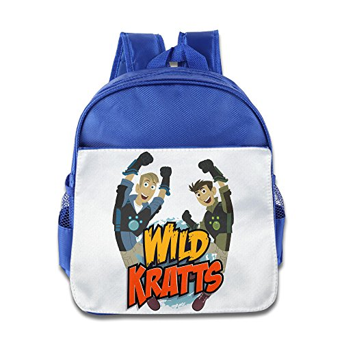 Xjbd Custom Personalized Wild Kratts Boys And Girls School Bag For 1 6 Years Old Royalblue