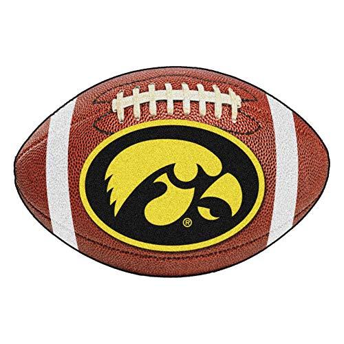 FANMATS NCAA University of Iowa Hawkeyes Nylon Face Football Rug ()
