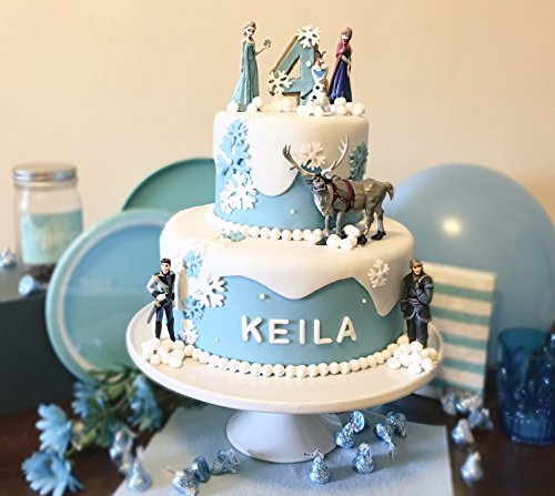 Enjoyable Frozen Elsa Birthday Cakes Topper Kit With Disney Figures Personalised Birthday Cards Paralily Jamesorg