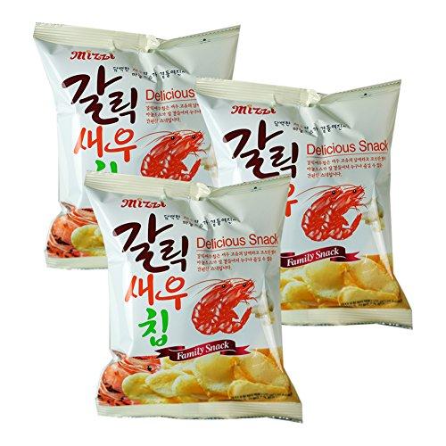 ROM AMERICA [3 Packs] Garlic Shrimp Chips Snacks 25g x 3 ()